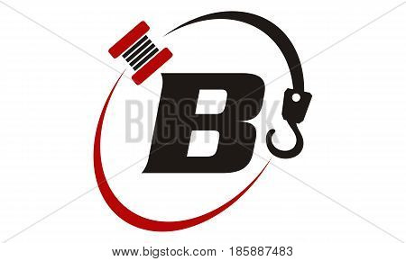 This image describe about Crane Hook Towing Letter B