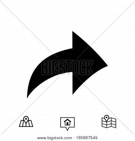 arrow icon stock vector illustration flat design
