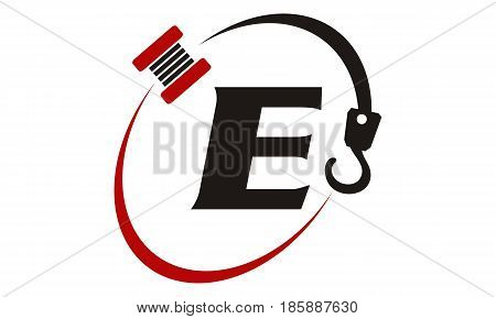 This image describe about Crane Hook Towing Letter E