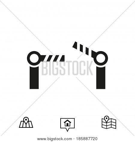 barrier icon stock vector illustration flat design