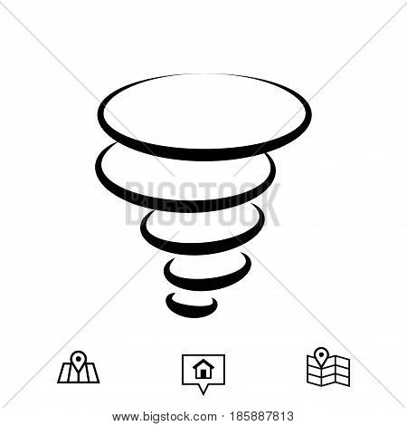 tornado icon stock vector illustration flat design