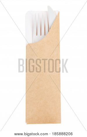 Plastic Fork Packaging From Recycled Paper