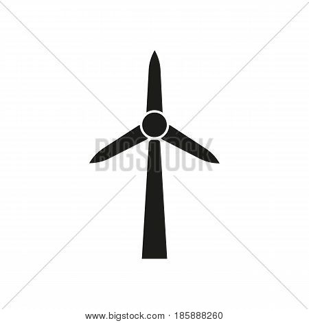 Windmill icon. Power and renewable, generator, ecology symbol. Flat design. Stock - Vector illustration