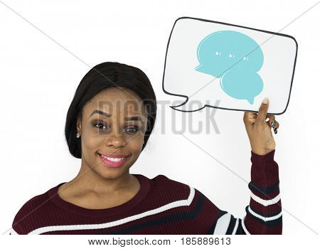 Illustration of speech bubble interact communication