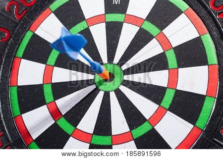 Arrow Dart Hitting The Center Of The Target
