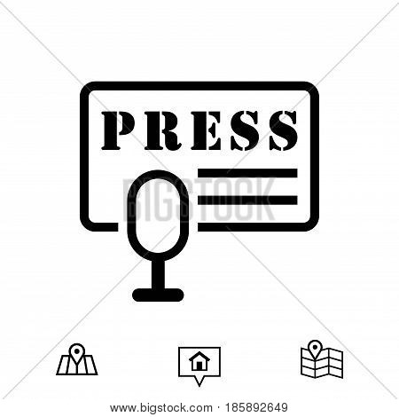 press icon stock vector illustration flat design