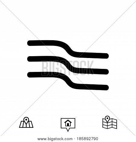 wind icon stock vector illustration flat design