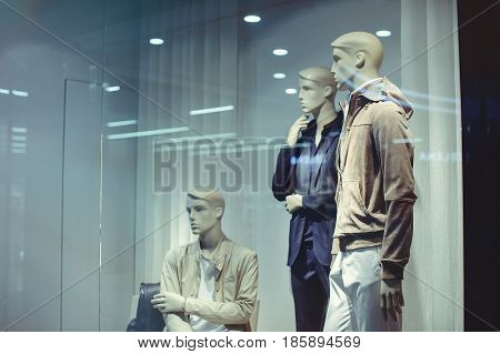 Storefront Of Men's Clothing