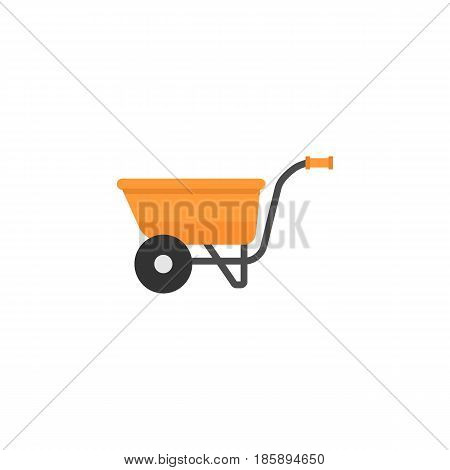 Wheel barrow flat icon, build repair elements, construction tool, a colorful solid pattern on a white background, eps 10.