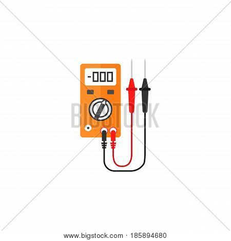 Electric tester flat icon, build repair elements, construction tool, a colorful solid pattern on a white background, eps 10.