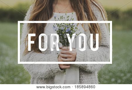 Special For You Flower Phrase Words