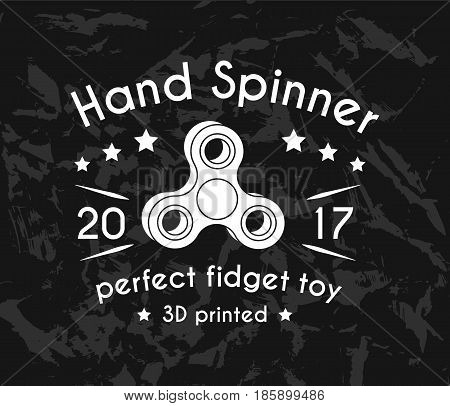 Hand Spinner emblems. Vector illustration on black background