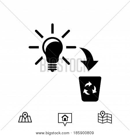 bad idea icon stock vector illustration flat design