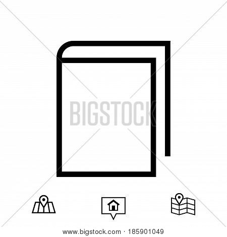 book icon stock vector illustration flat design