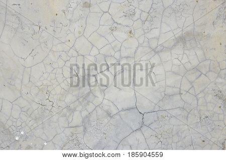 Old Gray Wall Broke Concrete