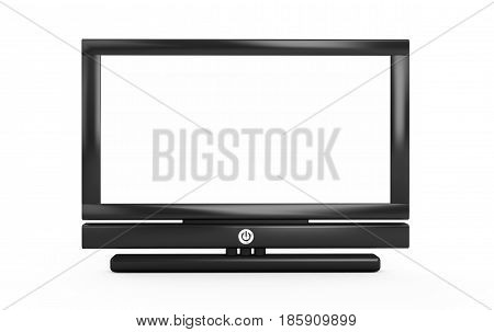 3d rendering plasma TV on white background