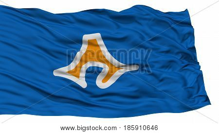Isolated Shizuoka Japan Prefecture Flag, Waving on White Background, High Resolution