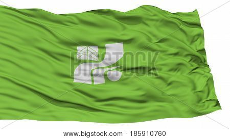 Isolated Tochigi Japan Prefecture Flag, Waving on White Background, High Resolution