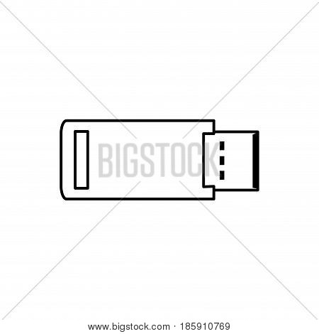USB flash backup computer card icon vector illustration