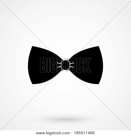 Vector Black Bow Tie Icon