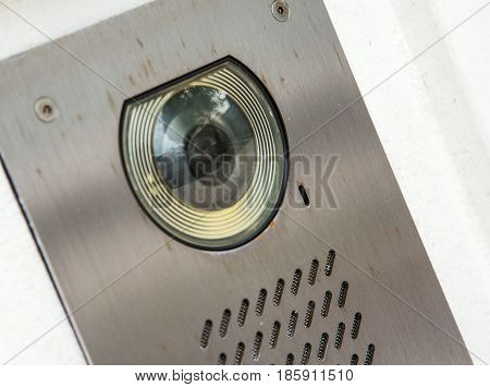 Video Intercom In The Entry Of Building