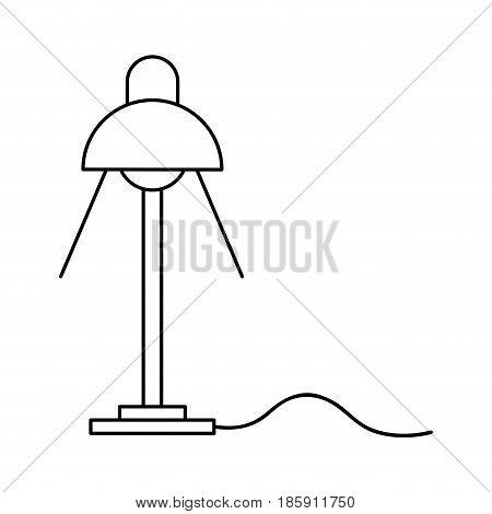 desk lamp light bulb electricity object outline vector illustration