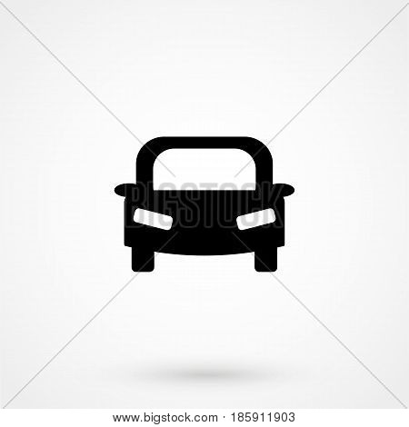 Car Icon Flat Design Isolated On Background
