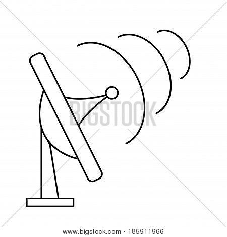 antenna transmission communication signal symbol outline vector illustration