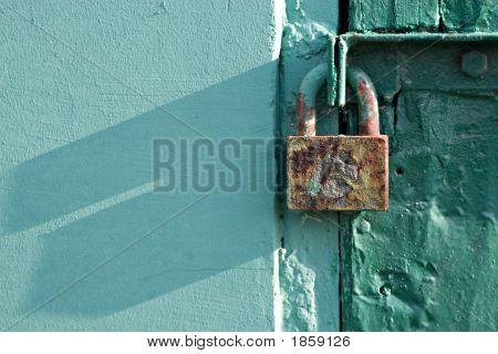 Rusty Lock, Green Door