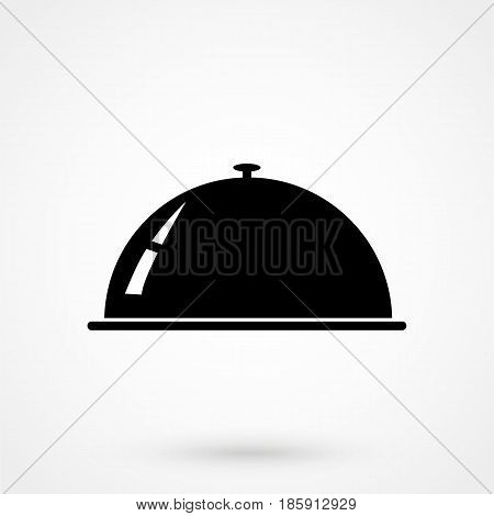 Tray Icon Flat Design Isolated On Background