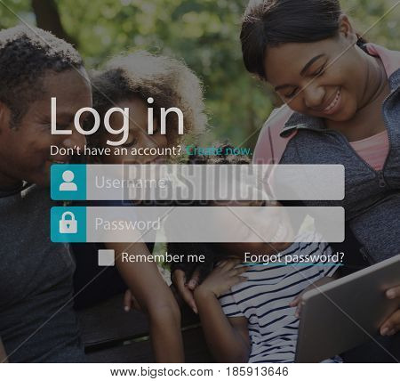 Login Password Username Account Concept