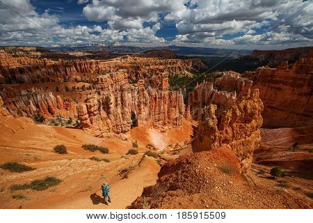 Landscape of Bryce canyon National Park Utah USA