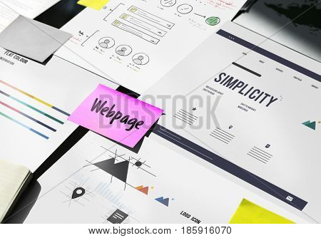 Webpage Content Layout Design Graphic Word