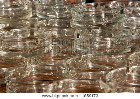 Heap Of Glass Ashtrays