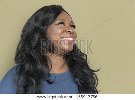 African Descent Woman Smiling Side