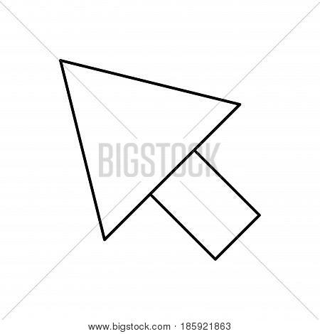 black silhouette of arrowhead icon vector illustration