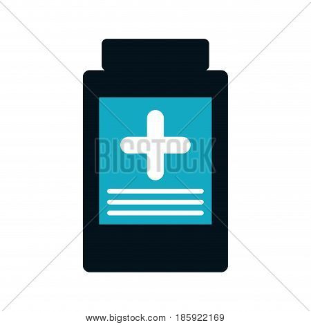 medicine bottle icon over white background. vector illustration