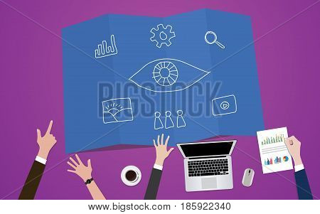 visual marketing eye icon concept illustration vector
