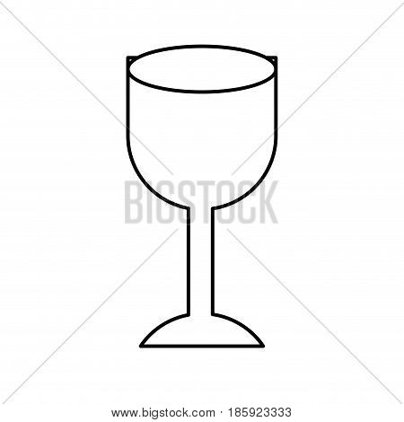 black silhouette of with fragile packaging symbol glass vector illustration
