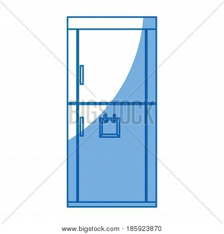 refrigerador appliance dispenser kitchen design vector illustration