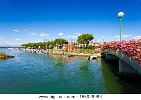 Beautiful Summer Scene In The City Center Of Grado, Friuli-venezia Giulia, Italy