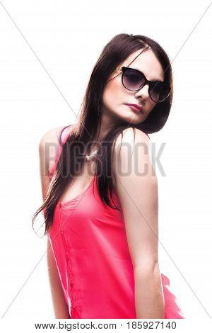 Beautiful Girl Wearing Pink Shirt