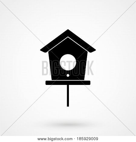 Bird House Icon. Simple Illustration.
