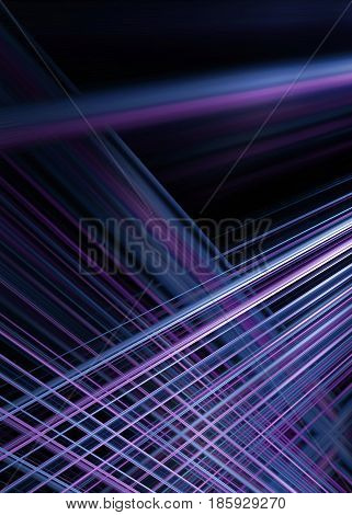Purple and blue light trails background with selective focus