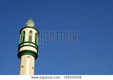 Mujahidin Tower Mosque in Pontianak, West Kalimantan, Indonesia