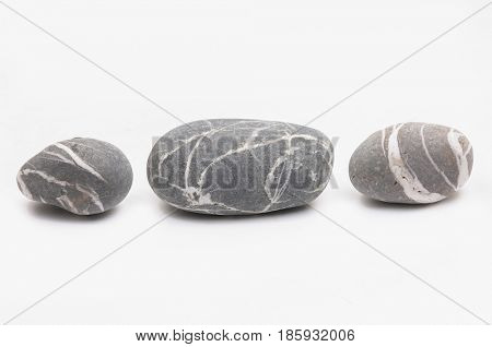 sea stones isolated on a white background