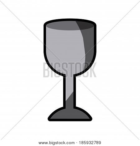 white background with fragile packaging symbol glass with half shadow vector illustration