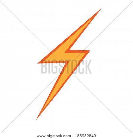 Bolt flat icon. Isolated vectir on white background.