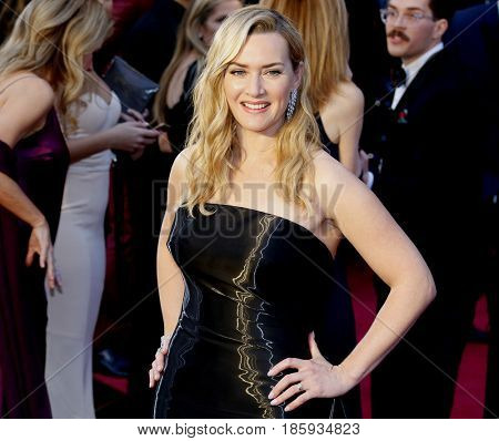 Kate Winslet at the 88th Annual Academy Awards held at the Hollywood & Highland Center in Hollywood, USA on February 28, 2016.