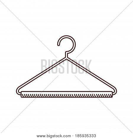 monochrome silhouette of hook closet shirt vector illustration